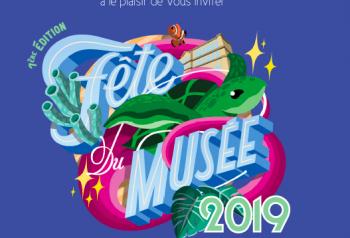 Affiche de la fête du musée 2019